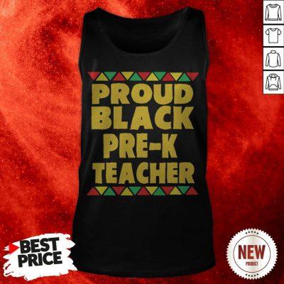 Proud Black Pre-K Teacher Tank Top