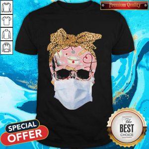 Skull Face Mask Nurse Skull With Mask Patriotic Skull First Responder Nurse Life Shirt