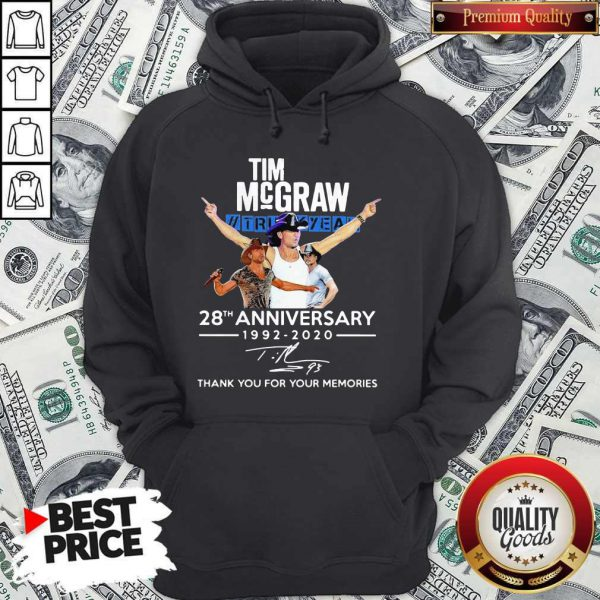 Tim Mcgraw Truck Yeah 28th Anniversary 1992 2020 Thank You For The Memories Signature Hoodie