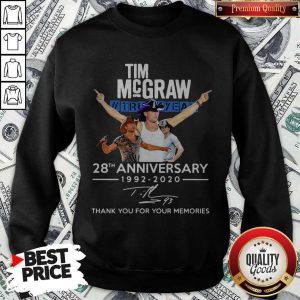 Tim Mcgraw Truck Yeah 28th Anniversary 1992 2020 Thank You For The Memories Signature Sweatshirt