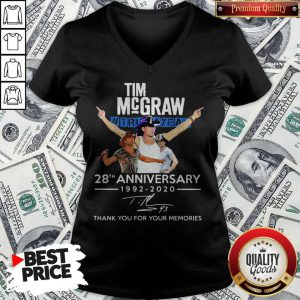 Tim Mcgraw Truck Yeah 28th Anniversary 1992 2020 Thank You For The Memories Signature V-neck