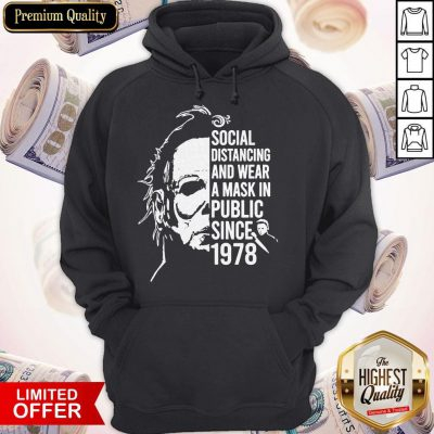 Top Horror Social Distancing And Wear A Mask In Public Since 1978 Hoodie