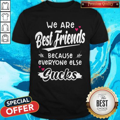 Top We Are Best Friends Because Everyone Else Sucks Shirt