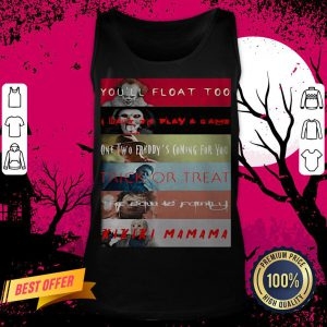 Halloween Horror Characters You'll Float Too I Want To Play A Game One Two Freddy's Coming For You Trick Or Treat Tank Top