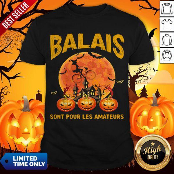 Balais Sont Pour Les Amateurs Lady Pumpkin Halloween Shirt
