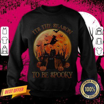 Cat It's The Season To Be Spooky Halloween Sweatshirt