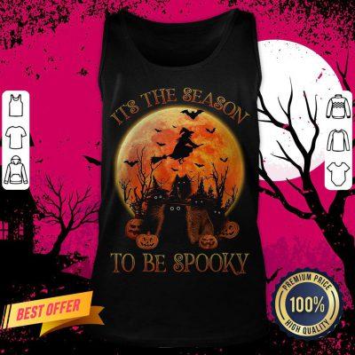 Cat It's The Season To Be Spooky Halloween Tank Top