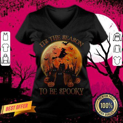 Cat It's The Season To Be Spooky Halloween V-neck
