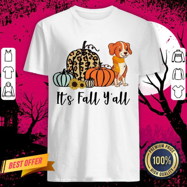 Dog Pumpkins It's Fall Y'all Shirt