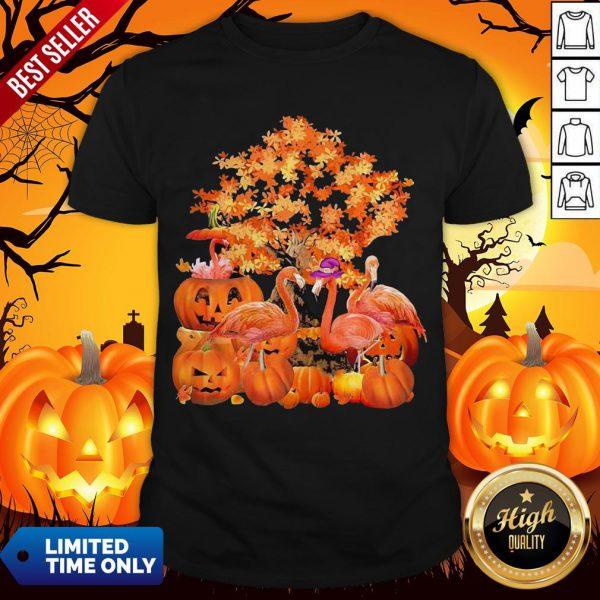 Official Fall Flamingo Halloween Shirt