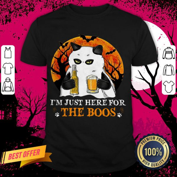 I'm Just Here For The Boos Cat Drink Beer Shirt