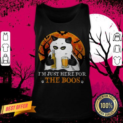 I'm Just Here For The Boos Cat Drink Beer Tank Top
