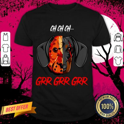Jason Voorhees Dachshund Ch Ch Grr Grr Halloween Shirt