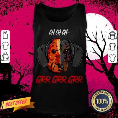 Jason Voorhees Dachshund Ch Ch Grr Grr Halloween Tank Top