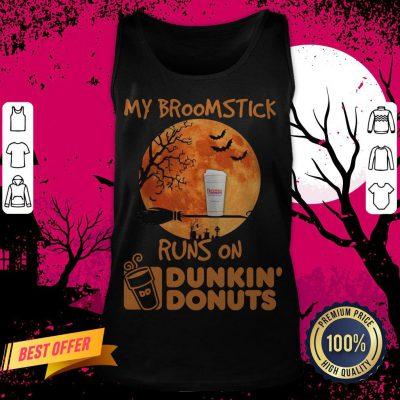 My Broomstick Runs On Dunkin' Donuts Halloween Tank Top