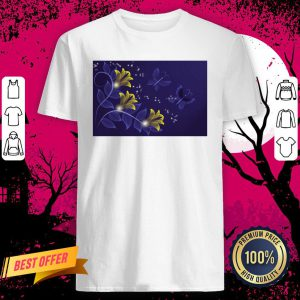 Official Blue And Gold Floral Merchandise Shirt