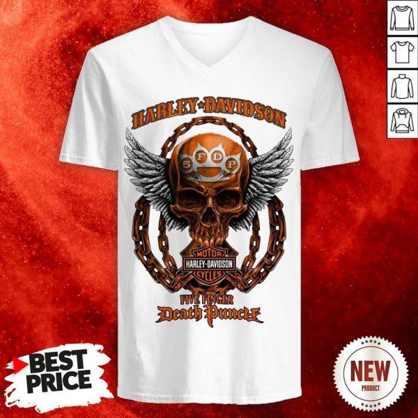 Skull Harley Davidson Motorcycles Five Finger Death Punch Shirt