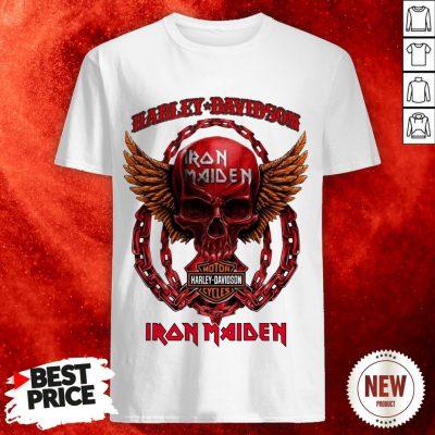 Skull Harley Davidson Motorcycles Iron Maiden Shirt