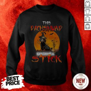This Dachshund Witch Can Drive A Stick Halloween Sweatshirt