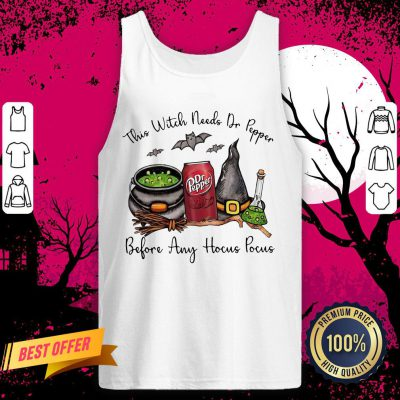 This Witch Needs Dr Pepper Before Any Hocus Pocus Halloween Tank Top