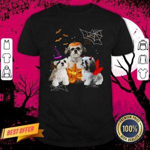 Three Shih Tzus Dogs Halloween Shirt