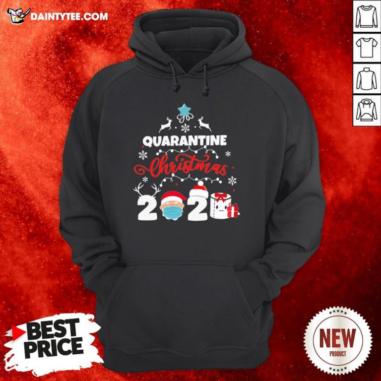 Awesome Xmas Quarantine Christmas 2020 Social Distancing Christmas Hoodie- Design By Daintytee.com