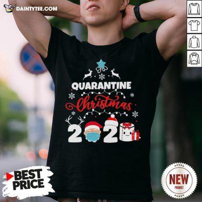 Awesome Xmas Quarantine Christmas 2020 Social Distancing Christmas Shirt- Design By Daintytee.com