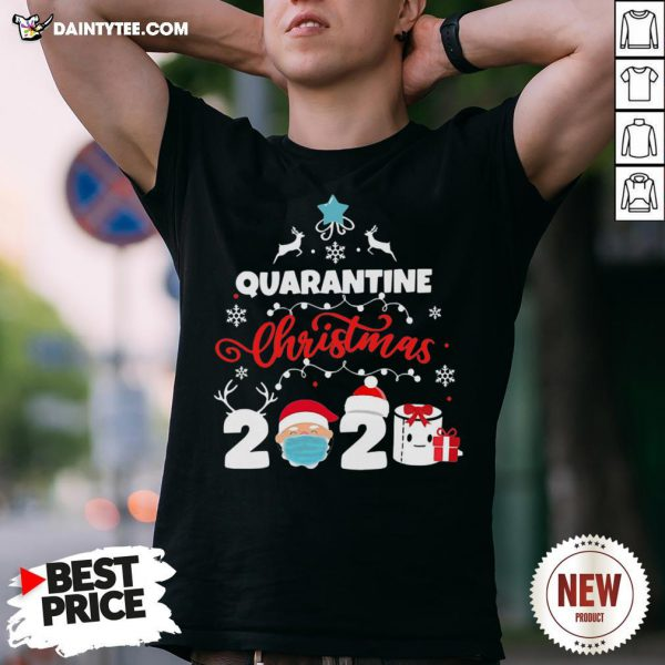 Awesome Xmas Quarantine Christmas 2020 Social Distancing Christmas Shirt- Design By Daintytee.com