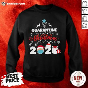 Awesome Xmas Quarantine Christmas 2020 Social Distancing Christmas Sweatshirt- Design By Daintytee.com
