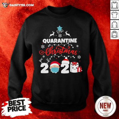 Awesome Xmas Quarantine Christmas 2020 Social Distancing Christmas Sweatshirt- Design By Daintytee.com