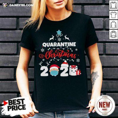 Awesome Xmas Quarantine Christmas 2020 Social Distancing Christmas V Neck- Design By Daintytee.com