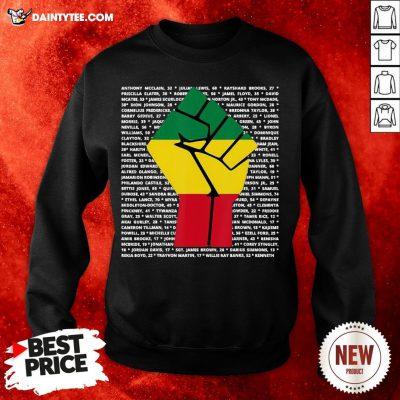 BLM Shirt Say Their Names Victim Fist Sweatshirt
