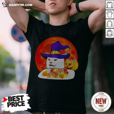 Cat Candy Witch Halloween Shirt