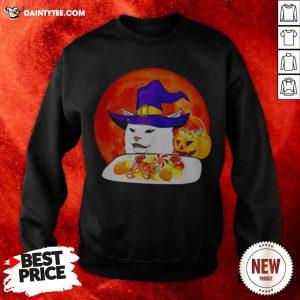 Cat Candy Witch Halloween Sweatshirt