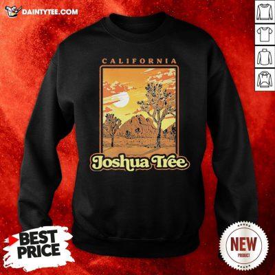 Funny Joshua Tree National Park Vintage WPA Poster Style Sweatshirt- Design By Daintytee.com