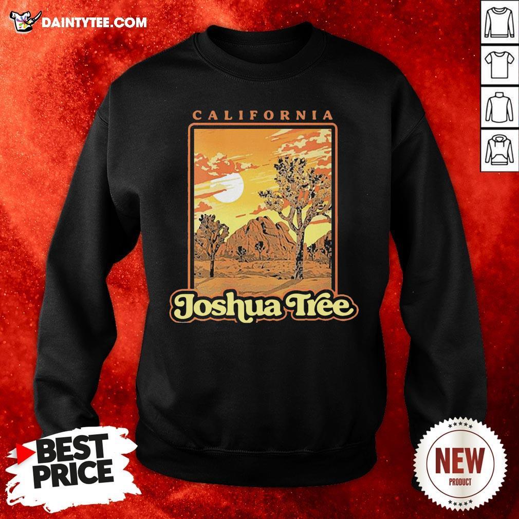 Funny Joshua Tree National Park Vintage Wpa Poster Style Shirt Daintytee