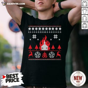 Nice Burning Church Christmas 2020 Shirt- Design By Daintytee.com