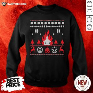 Nice Burning Church Christmas 2020 Sweatshirt- Design By Daintytee.com