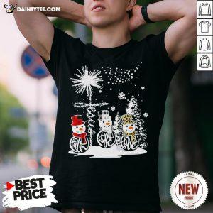 Top Merry Christmas Faith Hope Love Snowman Leopard Shirt- Design By Daintytee.com