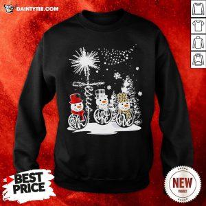 Top Merry Christmas Faith Hope Love Snowman Leopard Sweatshirt- Design By Daintytee.com