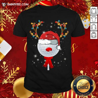 Awesome Christmas Golf Ball T-Shirt- Design By Daintytee.com