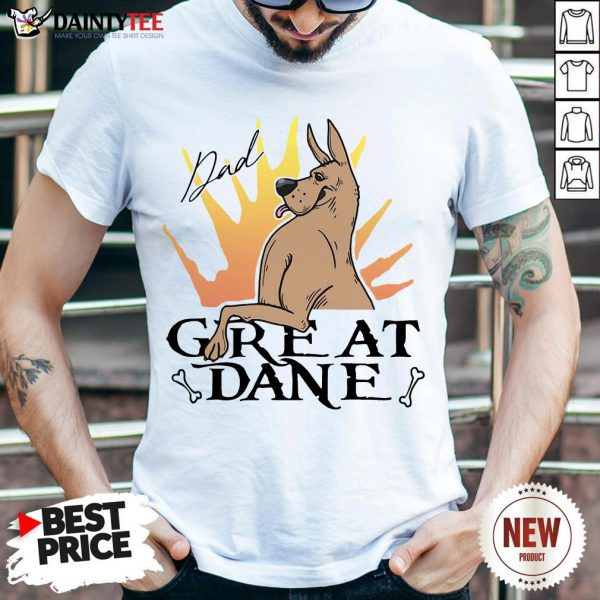 Awesome Great Dane Dad Shirt- Design By Daintytee.com