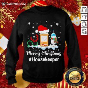 Nurse Santa Vaccine Merry Christmas #Housekeeper Sweatshirt- Design By Daintytee.com