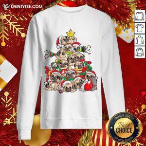 Pug Christmas Tree Dog Santa Merry Pugmas Xmas Gifts Sweatshirt- Design By Daintytee.com