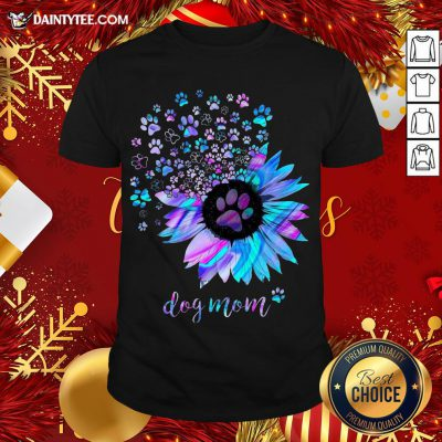 Awesome Sunflower Paw Dog Mom Shirt- Design By Daintytee.com