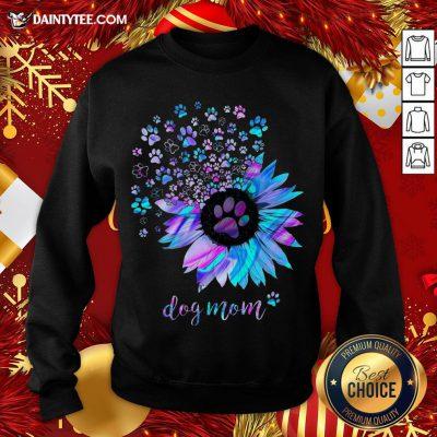Awesome Sunflower Paw Dog Mom Sweatshirt- Design By Daintytee.comAwesome Sunflower Paw Dog Mom Sweatshirt