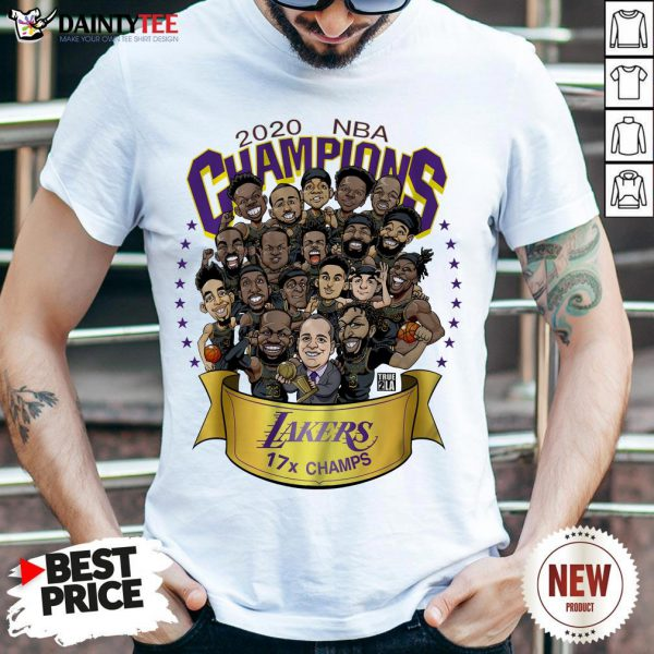 - Design By Daintytee.comFunny 2020 Nba Champions Los Angeles Lakers 17 Champs Cartoon Shirt