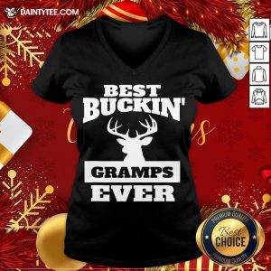 Funny Best Buckin Gramps Ever V Neck- Design By Daintytee.com