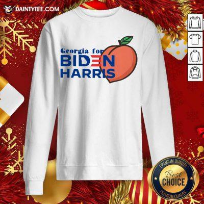 Georgia For Biden Harris Peach 2020 Sweatshirt - Design By Fanatictees.com
