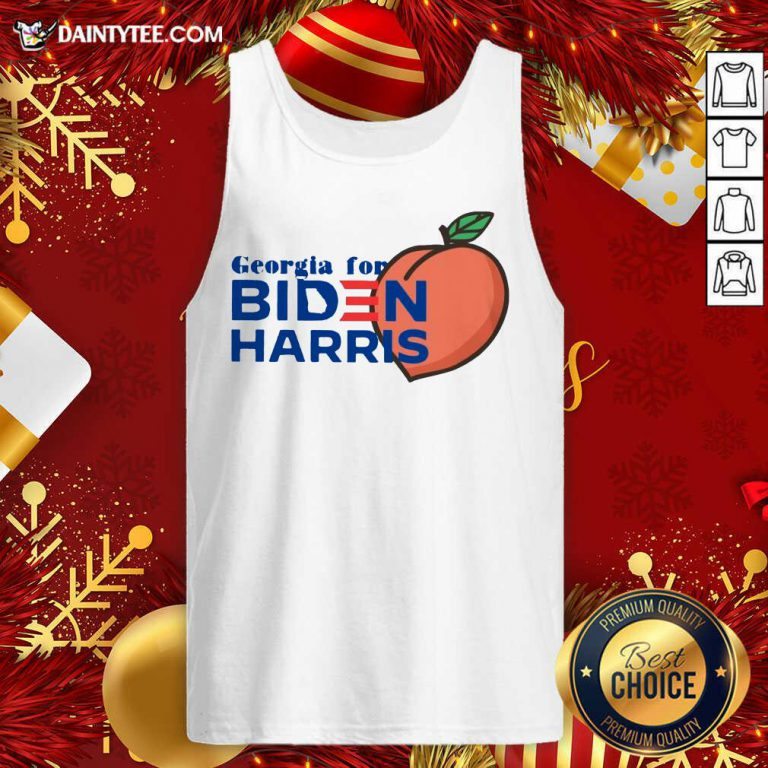 Georgia For Biden Harris Peach 2020 Tank Top - Design By Fanatictees.com